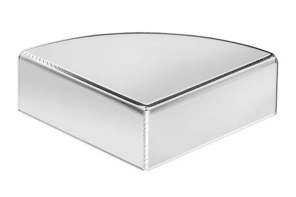 Tafelstandaard hoekmodel met ronding 5 cm hoog