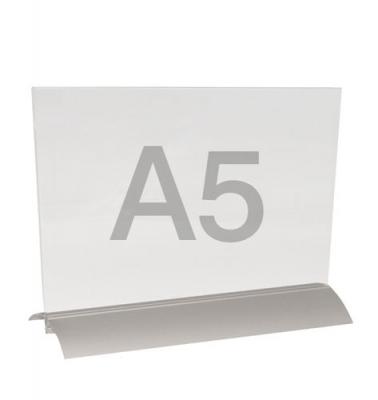 menuhouder a5 liggend met alu-voet