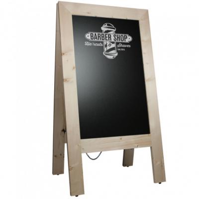 Krijtstoepbord Steigerhout Blank 75x135 cm