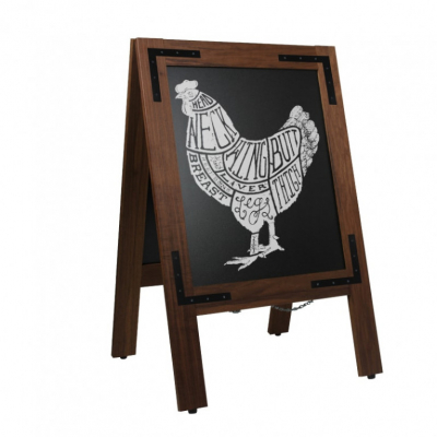 Krijtstoepbord Noir 55x85 cm