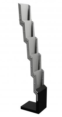 Alu-5 vloerstandaard (5x A4)