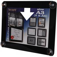 securit raamdisplay a3 zwart