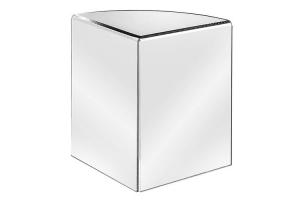 Tafelstandaard hoekmodel met ronding 20 cm hoog