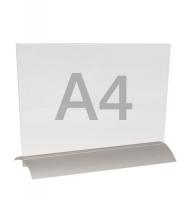 menuhouder a4 liggend met alu-voet