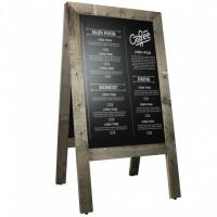 krijtstoepbord steigerhout old grey 75x135 cm