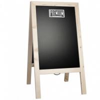 Krijtstoepbord Steigerhout Blank 46x80 cm